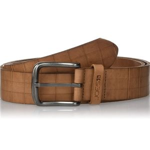 Joes Jeans 10403 square embossed leather belt